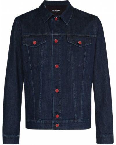 Хлопковая синяя джинсовая куртка Kiton