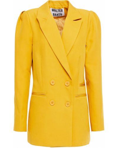 Желтый пиджак двубортный с подкладкой Walter Baker