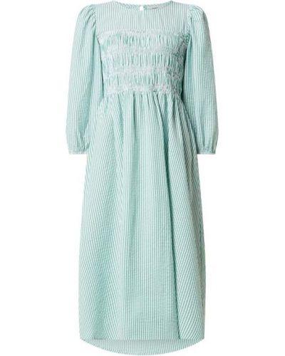 Zielona sukienka midi rozkloszowana bawełniana Moves