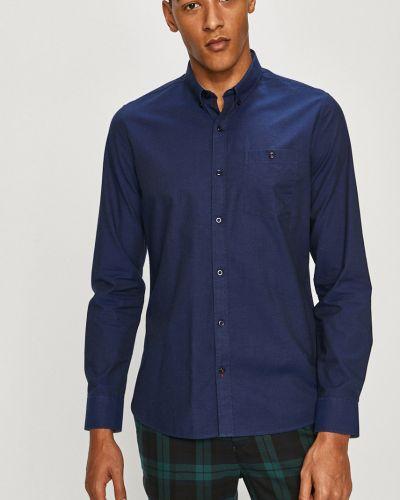 Синяя классическая рубашка с воротником с длинными рукавами Medicine
