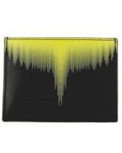 Czarny portfel elegancki Marcelo Burlon