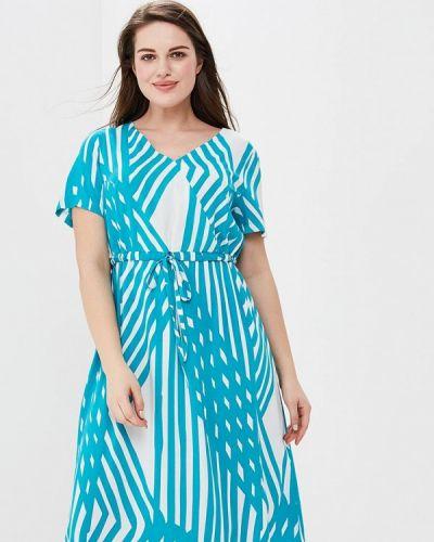 Платье весеннее бирюзовый Lina