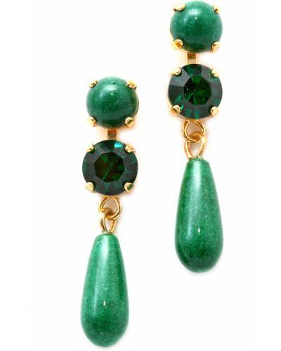 Зеленые серьги Amaro