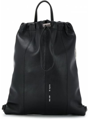 Skórzany plecak czarny frędzlami Kara