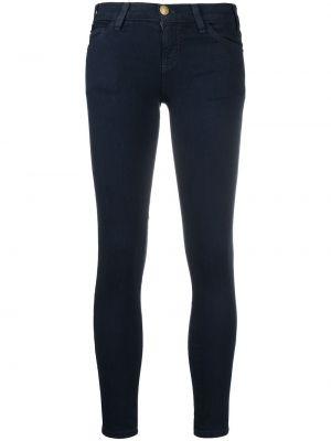 Синие джинсы-скинни с низкой посадкой на молнии Current/elliott
