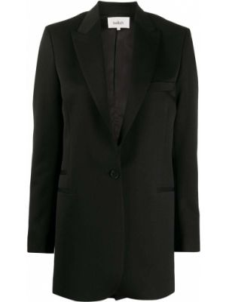 Шерстяной черный пиджак с карманами с лацканами Ba&sh