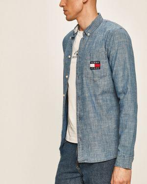 Koszula dzinsowa z kołnierzem niebieski Tommy Jeans