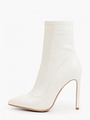 Белые кожаные ботильоны Diora.rim
