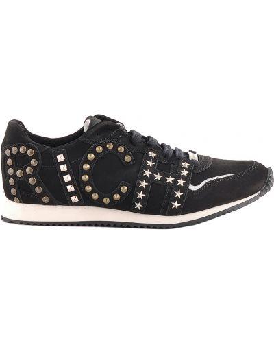 Черные кроссовки из нубука Richmond