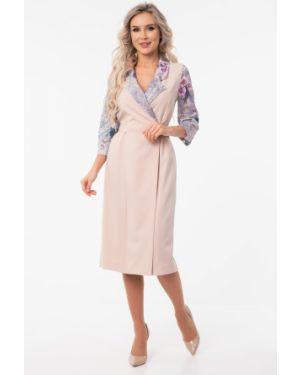 Платье с поясом с запахом платье-сарафан Wisell
