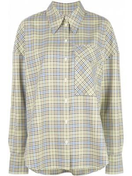 Koszula materiałowa - zielona Tibi