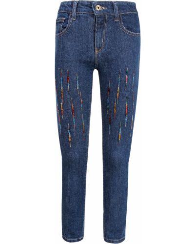 Хлопковые синие джинсы Billieblush