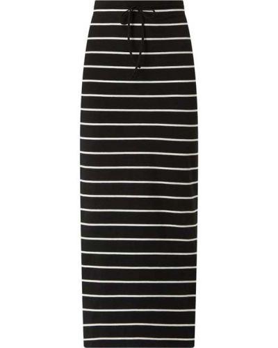 Długa spódnica w paski - czarna Edc By Esprit