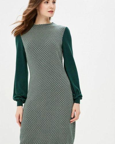 Платье осеннее зеленый Marytes