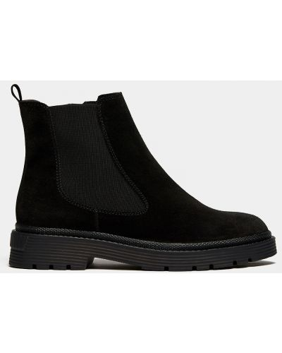 Черные замшевые ботинки Ralf Ringer