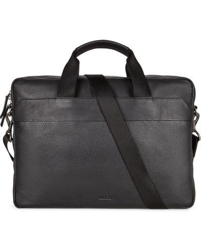 Кожаная черная сумка для ноутбука Ecco