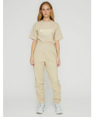 Beżowe spodnie dresowe Rotate