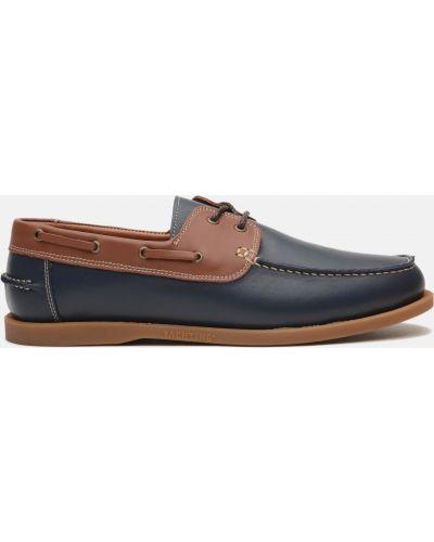 Топсайдеры - синие Prime Shoes