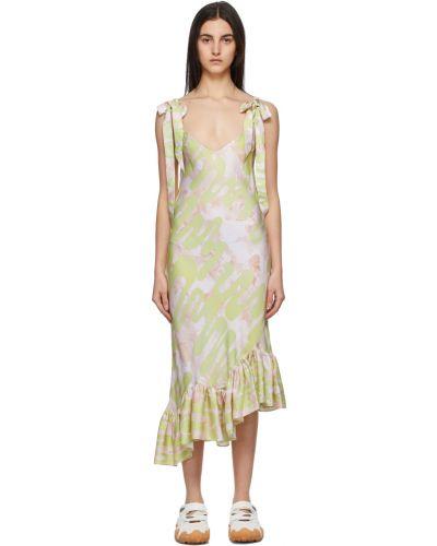 Sukienka asymetryczna - beżowa Collina Strada