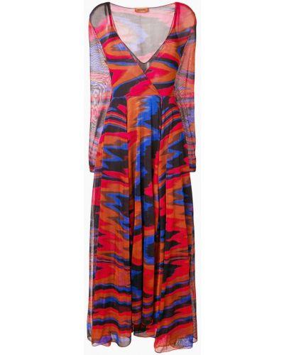 Платье красный синее Missoni