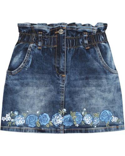 Bawełna bawełna niebieski jeansy z haftem Monnalisa