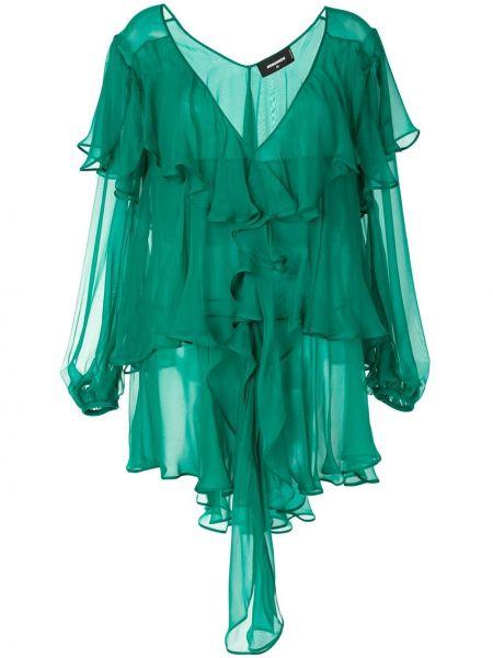 Платье мини с открытой спиной с V-образным вырезом Dsquared2
