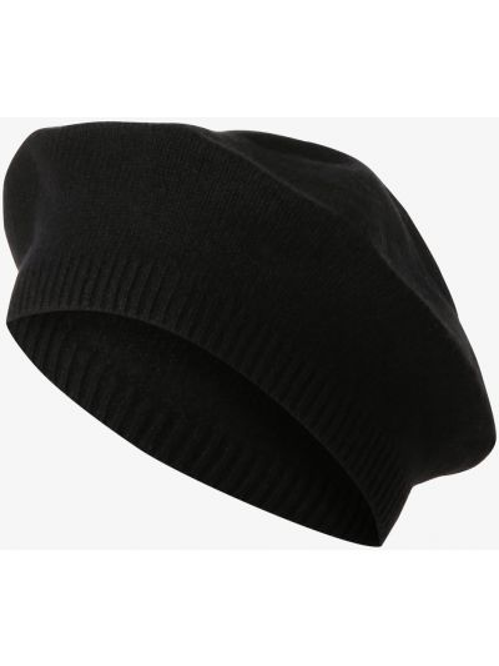 Czarna z kaszmiru czapka Apriori