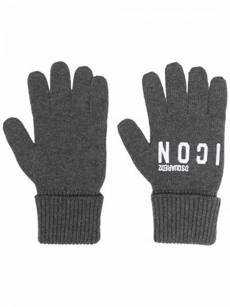 Białe rękawiczki wełniane Dsquared2