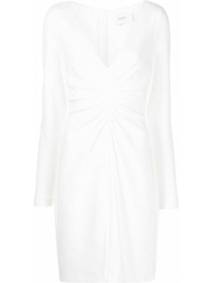 Платье макси длинное - белое Badgley Mischka