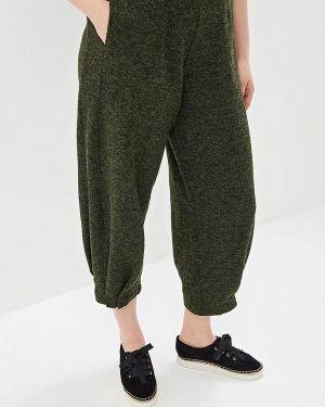 Свободные брюки зеленый расклешенные Артесса