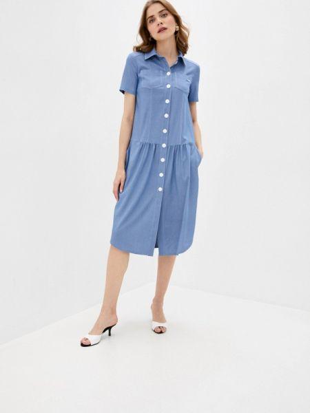 Повседневное платье синее весеннее Buono