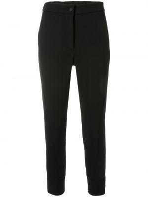 Черные укороченные брюки с карманами на молнии Manning Cartell