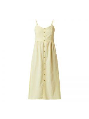 Żółta sukienka rozkloszowana z wiskozy Lascana