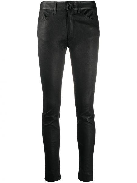 Черные брюки с нашивками скинни на пуговицах Dondup