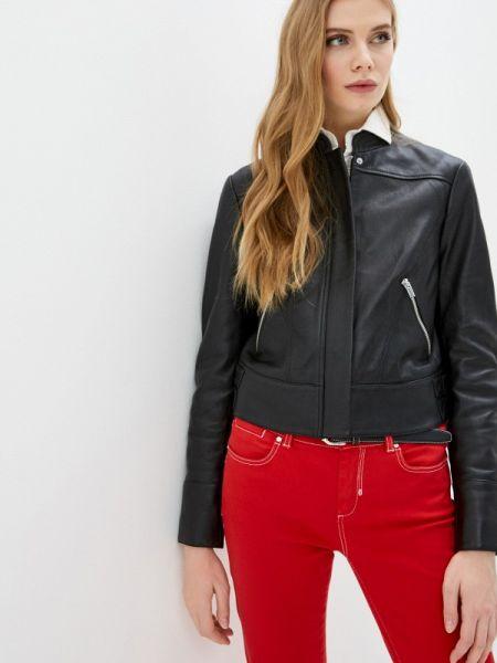 Кожаная куртка черная спортивная Sportmax Code