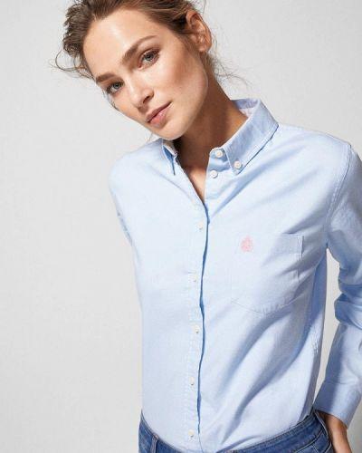 Голубая рубашка с длинным рукавом Springfield