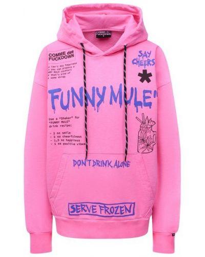 Хлопковое розовое худи Comme Des Fuckdown