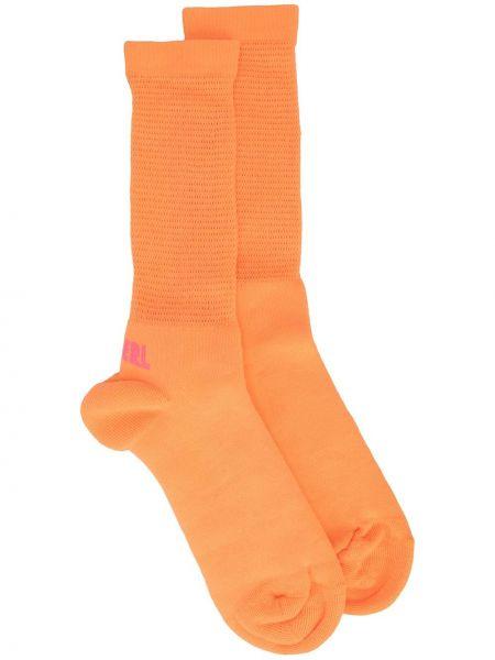 Pomarańczowe skarpety bawełniane Erl