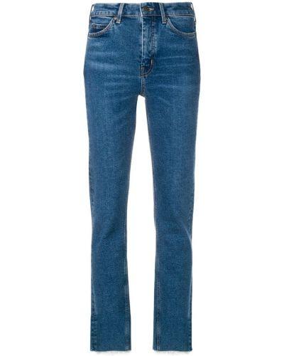 Прямые джинсы с завышенной талией - синие Mih Jeans