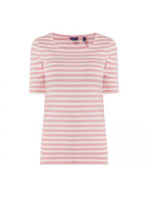 Różowy t-shirt w paski bawełniany Gant