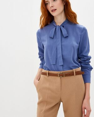 Блузка с бантом синяя Woman Ego