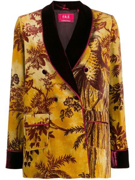 Желтый пиджак с карманами F.r.s For Restless Sleepers