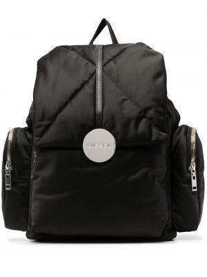 Черный рюкзак на шнурках металлический Diesel