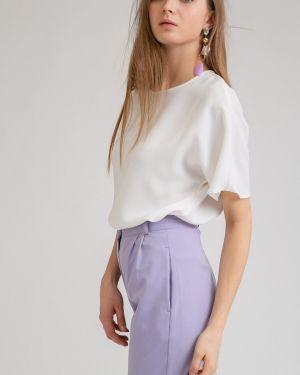 Блузка с коротким рукавом прямая из вискозы Emka