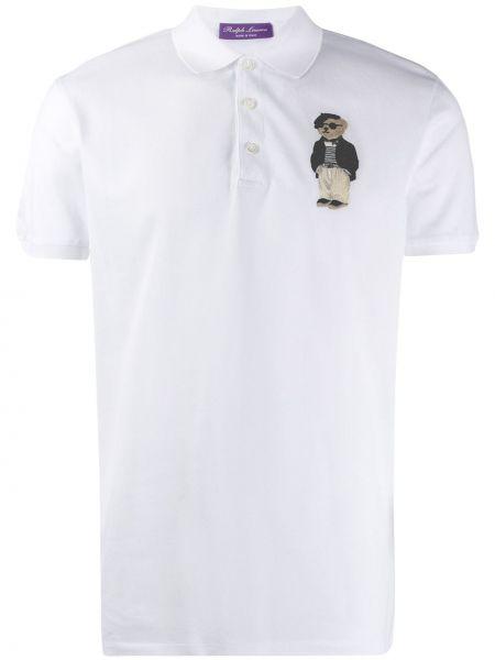 Классическая фиолетовая рубашка с короткими рукавами с вышивкой Ralph Lauren Purple Label