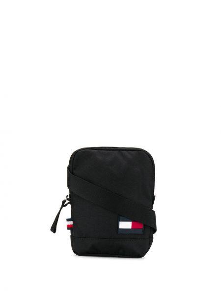 Мерцающая черная сумка через плечо Tommy Hilfiger