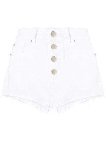 Хлопковые белые джинсовые шорты с карманами Iro