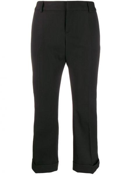Przycięte spodnie z kieszeniami czarne Saint Laurent