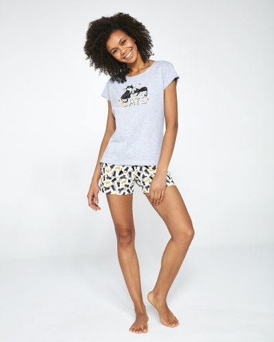 С кошками пижамная пижама Cornette