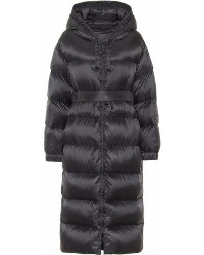 Стеганое черное пальто Max Mara